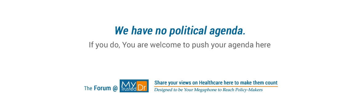 MyTrustedDr invites you to push your political agenda