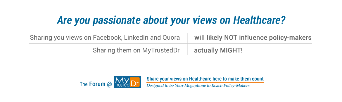 If you are passionate about healthcare, why not share on MyTrustedDr?