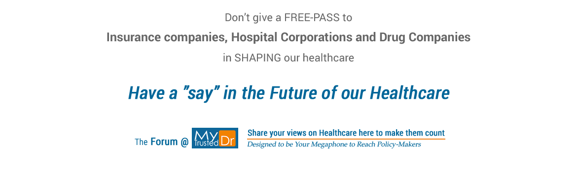 MyTrustedDr invites you to participate in shaping the future of our healthcare